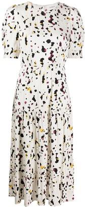 BA&SH Tony patterned midi dress