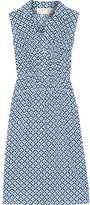 Marni Printed Silk Crepe De Chine Dress - Blue