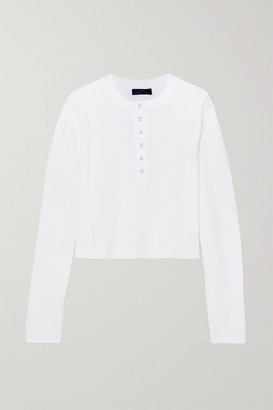 The Range Waffle-knit Cotton Top - White