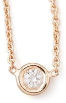 Roberto Coin 18k Rose Gold Single Diamond Necklace