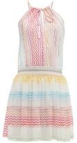 Missoni Mare - Halterneck Zigzag Woven Mini Dress - Womens - Multi