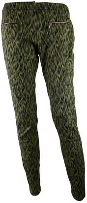 Matthew Williamson Green Cotton Trousers for Women