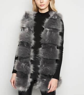 New Look Cameo Rose Faux Fur Gilet