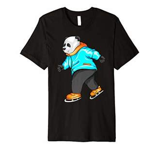 Figure Skating Panda   Cute Pair Ice Skater Boy Funny Gift Premium T-Shirt