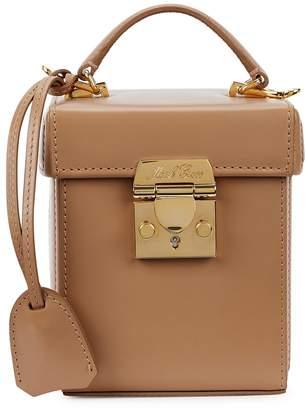 Mark Cross Grace Cube Camel Leather Box Bag