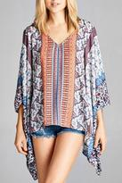 Dear Apple Summer Patterned Poncho