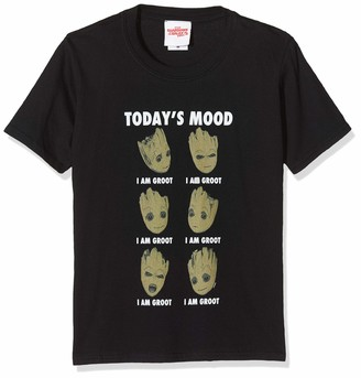 Marvel Girl's Guardians of The Galaxy Vol 2 Groot Today's Mood T-Shirt