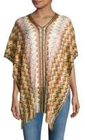 Missoni Printed Fringed Poncho