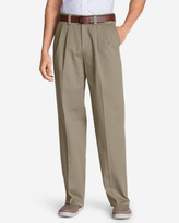 Eddie Bauer Men's Wrinkle-Free Relaxed Fit Comfort Waist Casual Performance Chino Pants