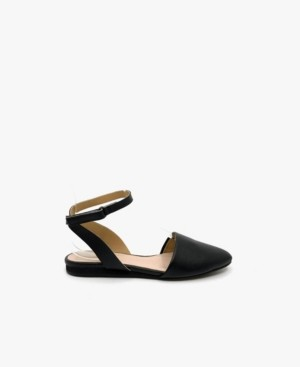 All Black Sling Wrap Flat Women's Shoes