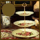 Plates three-tier dessert tray/[ake pan]/[tray]/ dried fruit tray