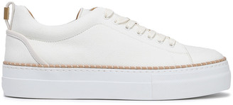 Buscemi Embellished Leather-trimmed Woven Sneakers