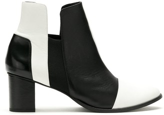 Gloria Coelho Panelled Leather Ankle Boots