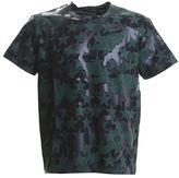 Valentino Black And Green Camoustars Cotton T-shirt
