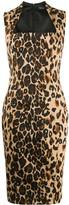 Thierry Mugler leopard print fitted midi dress