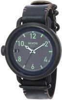 Nixon Men's A279-001-00 October Leather Digital Display Watch