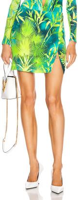 Versace Palm Mini Skirt in Green | FWRD