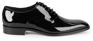 Saks Fifth Avenue Square Toe Patent Leather Derbys