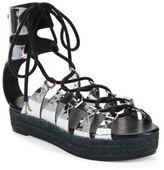 McQ Lace-Up Flatform Sandals