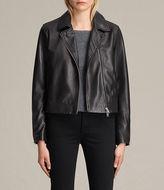 AllSaints Lowell Leather Biker Jacket
