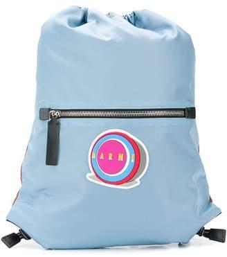 Marni logo drawstring backpack