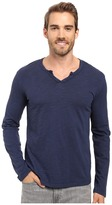 Mod-o-doc Les Carillo Long Sleeve Notch Slub Jersey V-Neck