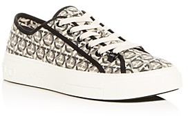 Salvatore Ferragamo Men's Anson Gancini Print Low-Top Sneakers