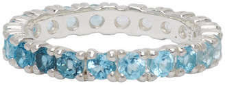 Hatton Labs Silver and Blue Topaz Eternity Ring