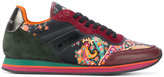 Etro paisley panel lace-up sneakers - women - Cotton/Calf Leather/Leather/rubber - 36