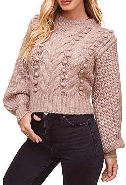 ASTR the Label Tina Cable Knit Sweater