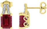 JCPenney FINE JEWELRY Lab-Created Ruby and White Sapphire Split-Top Stud Earrings