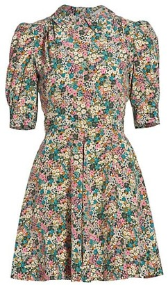 See by Chloe Floral Meadow Puff-Sleeve Shirtdress