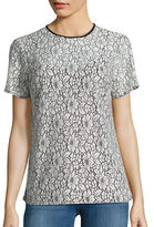 MICHAEL Michael Kors Short Sleeve Lace Layered Tee
