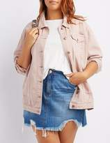 Charlotte Russe Plus Size Refuge Destroyed Denim Jacket