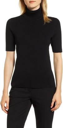 Anne Klein Short Sleeve Turtleneck Sweater