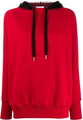 RED Valentino lace contrast hoodie