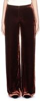 MS MIN Velvet wide leg pants