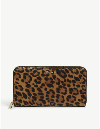 Ted Baker Averyy leopard print matinee purse