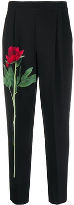 Boutique Moschino Floral-Print Cropped Trousers