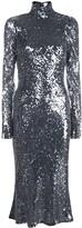 Galvan sequinned midi dress