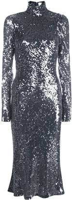 Galvan Sequinned Midi Dress