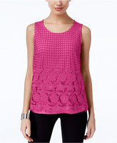 INC International Concepts Petite Lace Layered-Look Top, Created for Macy's