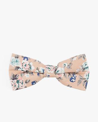 Le Château Floral Print Cotton Bow Tie