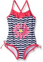 Pink Platinum Little Girls Daisy One Piece Swimsuit