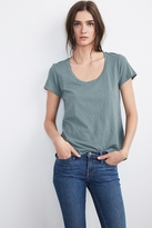 Rowen Scoop Neck Slub Tee