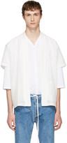 SASQUATCHfabrix. White Graphic Hanten Shirt