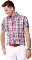 Nautica Shirt, Short Sleeve Woven Plaid Shirt