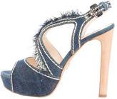 Prada Denim Platform Sandals