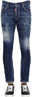 DSQUARED2 16cm Skater Denim Jeans W/ Paint Splash