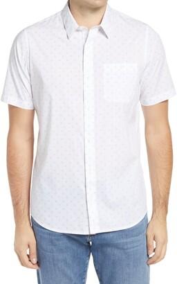 Travis Mathew Perspective Slim Fit Short Sleeve Button-Up Shirt